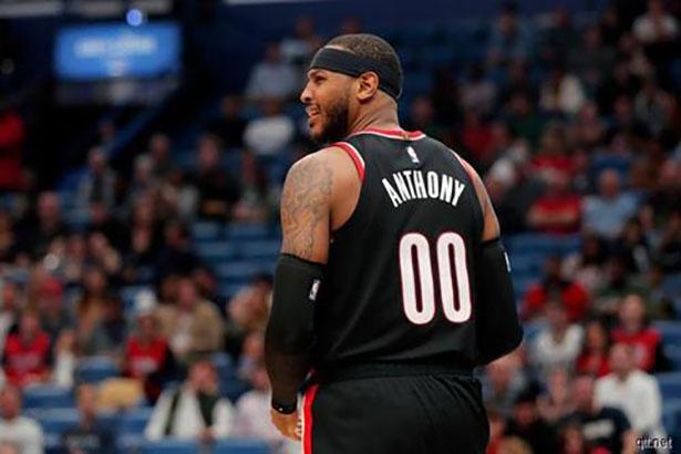 Por acuerdos de salud y seguridad, Carmelo Anthony se perdió el partido de los Trail Blazers